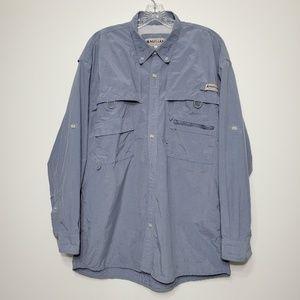 Magellan Large vented button down shirt